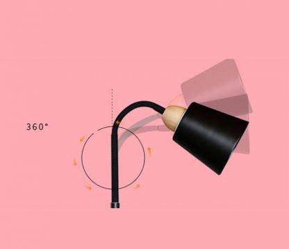 Yngve Contemporary Pastel Color Black Floor Lamp
