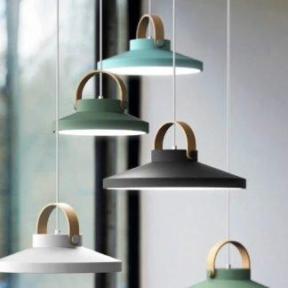 Cille Scandinavian Industrial Retro Metal And Wood Pendant Light