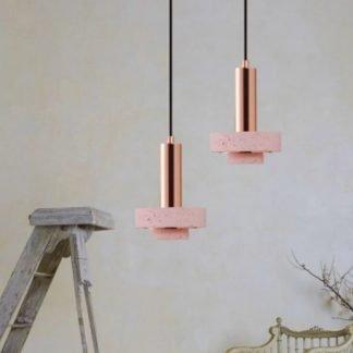 Jannik Terrazzo Print Stone Nordic Pendant Light