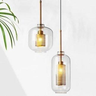 Majken Industrial Glass Rustic Pendant Light