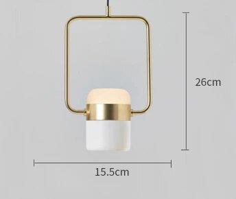 Rasmus Rotatable Modern White Pendant Light