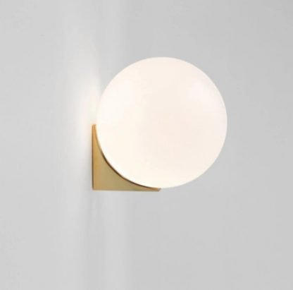 Verner Classic Globe Frosted Glass Wall Lamp