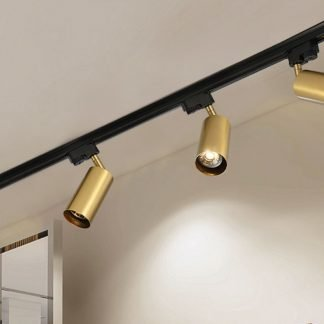 Gronar Vintage Gold Track Lights black