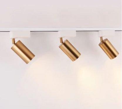 Gronar Vintage Gold Track Lights - white tracklights