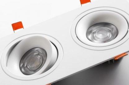 Recessed-LED-Spotlight-Square adjustable closeup