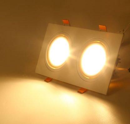 Recessed-LED-Spotlight-Square twin lit