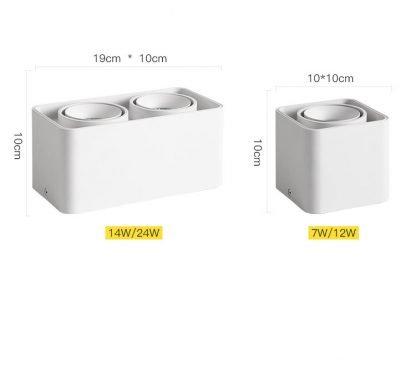 Surface-Mounted-LED-Rectangular-Box-Spotlight-Downlight-dimensions