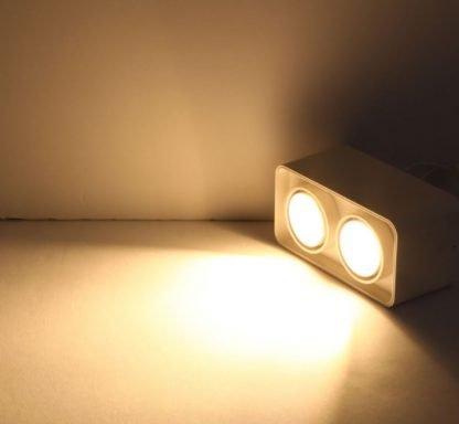 Surface-Mounted-LED-Rectangular-Box-Spotlight-Downlight twin lit