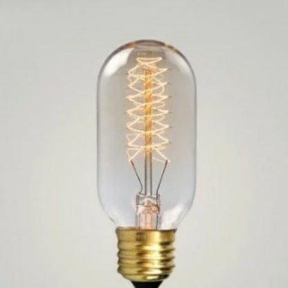edison light bulb spiral short tube