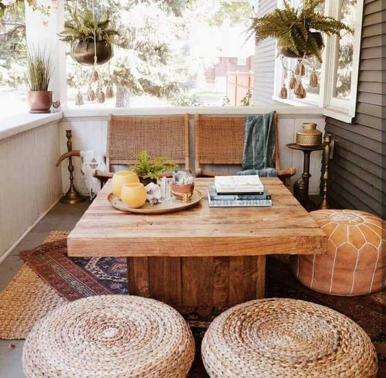 Wooden Aesthetic Sitting Space