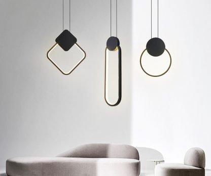 Brandyn Minimalistic Frame Pendant Lamp-meeting room
