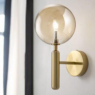 Nilsen Ball Shaped Glass Wall Light-Dressing room