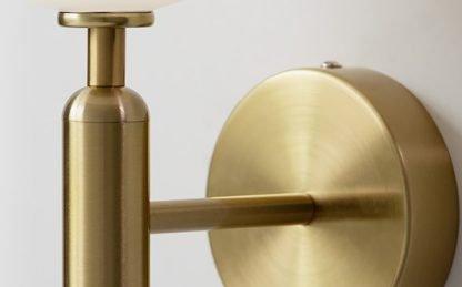 Nilsen Ball Shaped Glass Wall Light-closeup