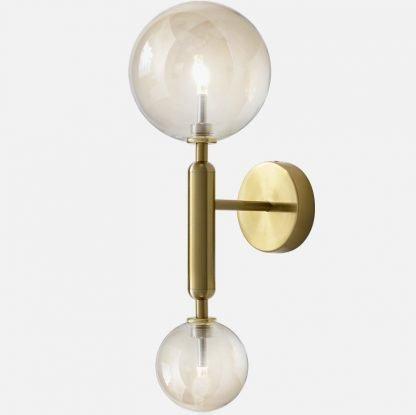 Nilsen Ball Shaped Glass Wall Light-loft