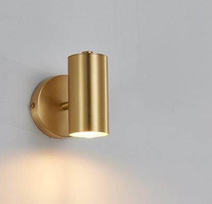 Pettersen Modern Spotlight Style Gilded Wall Light-work space
