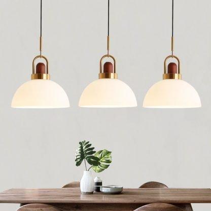 Eriksen Classy Sophisticated Glass Exterior Pendant Lamp-bedroom